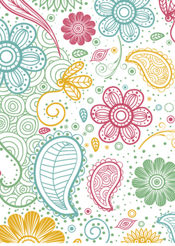 Colorful paisley pattern - Kostenloses vector #363453