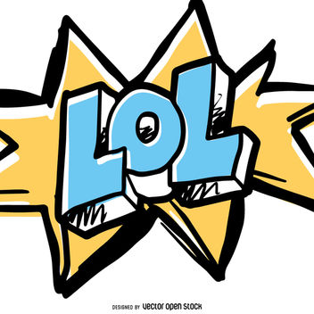 LOL vector in comic style - Free vector #363463