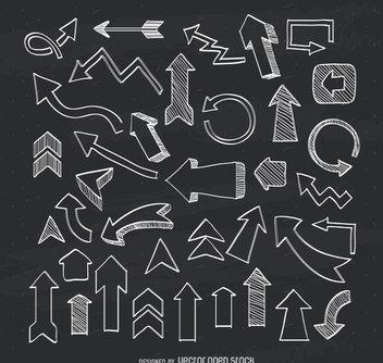 Illustrated arrows collection - vector gratuit #363623