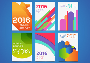 Annual Report Templates Vector - бесплатный vector #363743