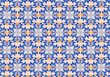 Floral Tile Pattern - Kostenloses vector #363823