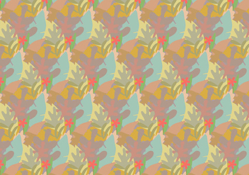 Leavess Pastel Pattern - Free vector #363843