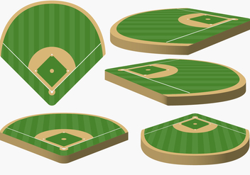 Vector Baseball Diamond From Different Angles - бесплатный vector #363863