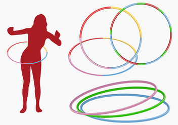 Hula Hoop Girl Vector - бесплатный vector #363883