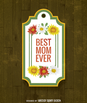 Best mom ever gift label - Free vector #363953
