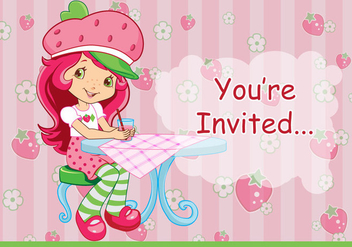 Strawberry Shortcake Vector - vector gratuit #364043