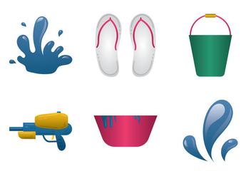 Free Songkran Vector Illustration - Free vector #364083