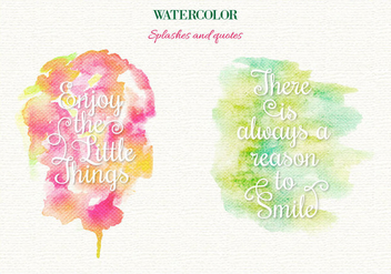 Free Vector Watercolor Splashes - бесплатный vector #364143