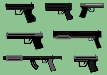Free Guns Vector Pack - vector #364163 gratis