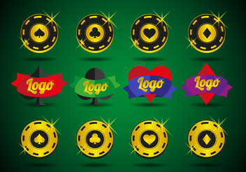 Casino Logos Elements Vector - vector gratuit #364263