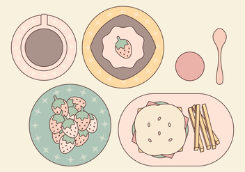 Vector Food Set - vector gratuit #364363