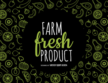 Fresh produce pattern - vector gratuit #364423