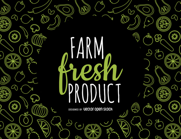 Fresh produce pattern - Kostenloses vector #364423