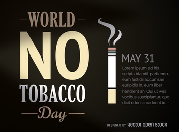 World no tabacco day poster - vector gratuit #364473
