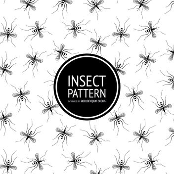 Insect pattern in black and white - vector gratuit #364493
