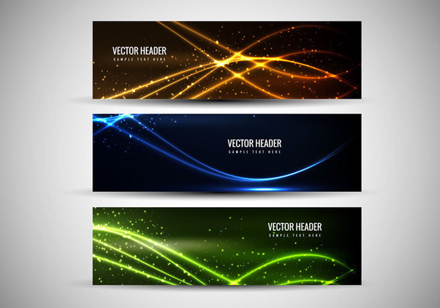 Free Vector Abstract Colorful Headers - Free vector #364543