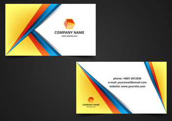 Free Vector Visiting Card Background - Kostenloses vector #364603