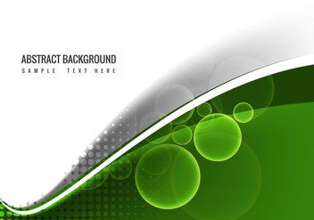 Free Vector Green Wave Background - бесплатный vector #364633
