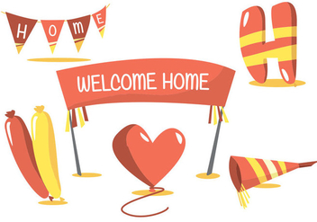 Welcome Home Vector Set - бесплатный vector #364743