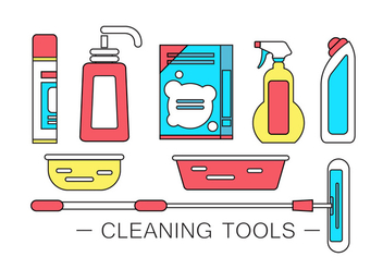 Vector Cleaning Products - Free vector #364783