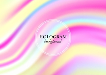 Free Vector Pink and Yellow Hologram Background - Free vector #364813