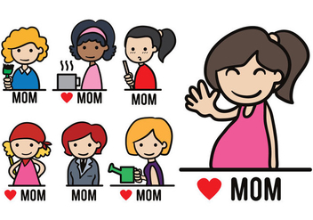 Moms Vector Pack - бесплатный vector #364823