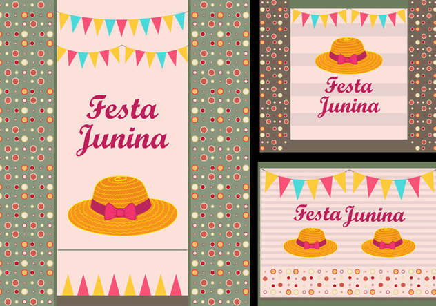 Festa Junina Invitation card illustration - vector gratuit #364863