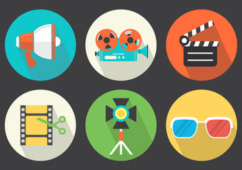 Video Vector Icons - Free vector #364883