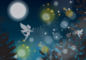 Night Fairy - vector gratuit #364913