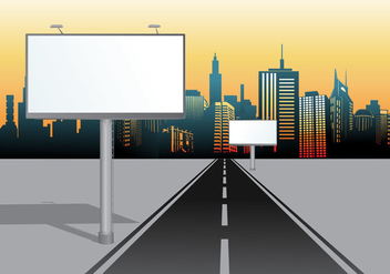 Urban Billboard Vector Hoarding - бесплатный vector #364923