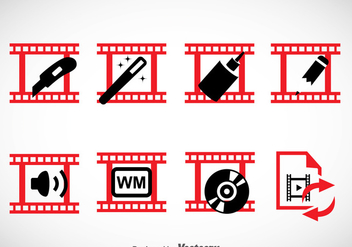 Video Editing Icons Sets - vector gratuit #364963
