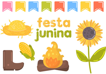 Festa Junina Vector Illustration - бесплатный vector #364983