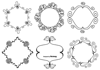 Cute Hand Drawn Frame Set - vector gratuit #364993