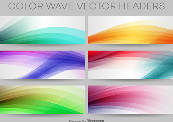 Colourful Wave Vector Headers - бесплатный vector #365003