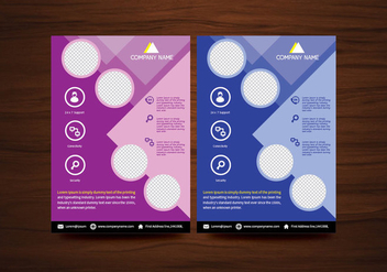 Vector Brochure Flyer design Layout template in A4 size - бесплатный vector #365013