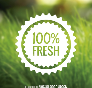 Fresh food badge - Free vector #365043