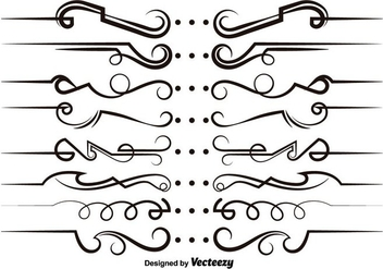 Vector Modern Scrollwork Elements - vector gratuit #365243