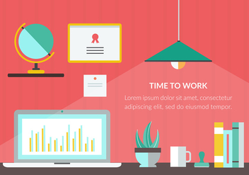 Free Time to Work Vector Illustration - vector gratuit #365253