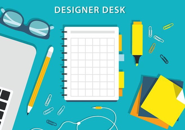 Free Colorful Vector Designers Desk - бесплатный vector #365263