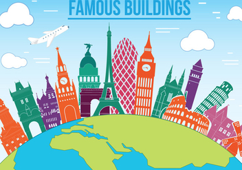 Free Famous Buildings Vector - бесплатный vector #365343