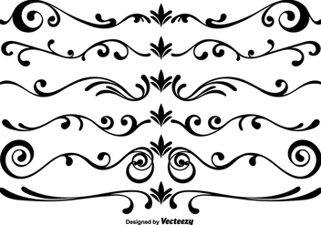 Vector Scrollwork Elements - Free vector #365393