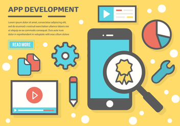 Free App Development Vector Background - бесплатный vector #365403