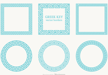 Free Greek Key Vector Borders - бесплатный vector #365413