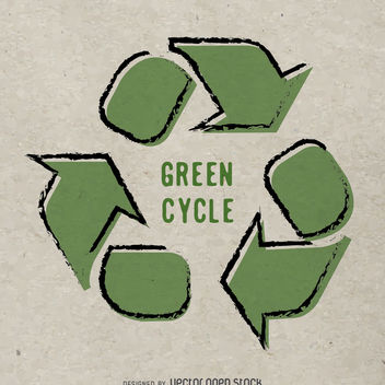 Hand drawn recycle poster - Free vector #365443