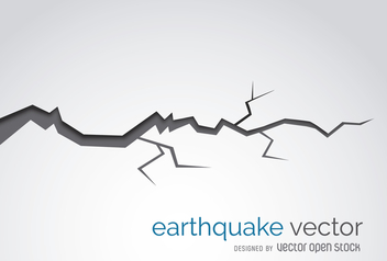 Earthquake crack illustration - vector gratuit #365513