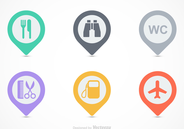 Free Map Legend Vector Icons - vector #365613 gratis