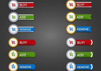 Free Web Buttons Set 16 Vector - Free vector #365633