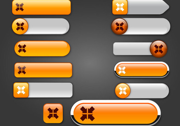 Free Web Buttons Set 17 Vector - Free vector #365663