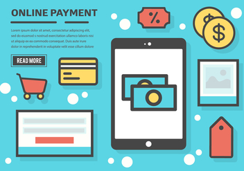 Free Online Payment Vector Background - Free vector #365713