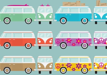 Retro Van - Free vector #365753
